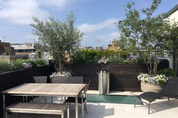 Roof terrace Fitzrovia