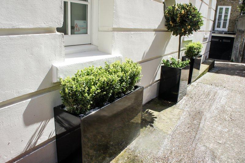 Window boxes   Outdoor planters   Contemporary garden designs.