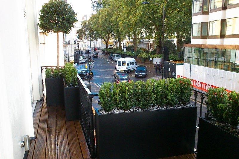 Roof Terrace Design Planters Outdoor