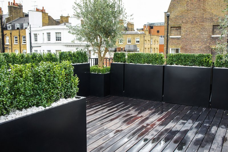 Roof terrace design roof terrace planters outdoor for Terrace with roof